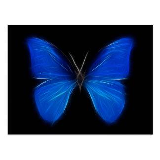 Insecto de vuelo azul de la mariposa tarjetas postales