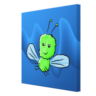 Insecto de vuelo verde claro del insecto impresión de lienzo
