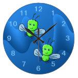 Insecto de vuelo verde claro del insecto reloj de pared