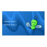 Insecto de vuelo verde claro del insecto tarjetas de visita
