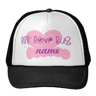 Insecto del amor de Lil: personalizar w/name Gorra