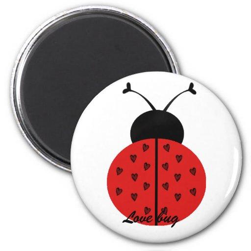 Insecto del amor imán de frigorífico