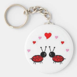 Insecto del amor llavero redondo tipo pin