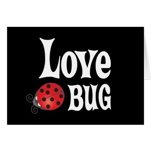 Insecto del amor - mariquita tarjeta de felicitación
