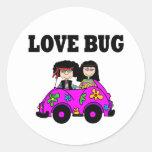 Insecto del amor pegatina redonda