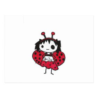 insecto del amor tarjeta postal