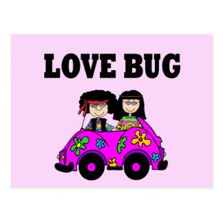 Insecto del amor postales