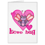 Insecto del amor tarjeton
