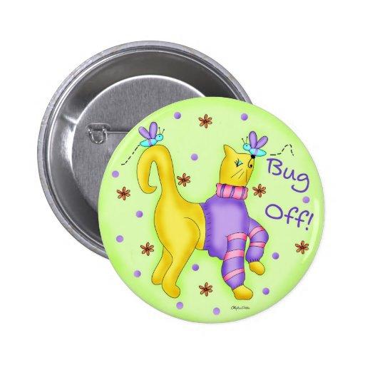 Insecto del botón redondo del gato pin