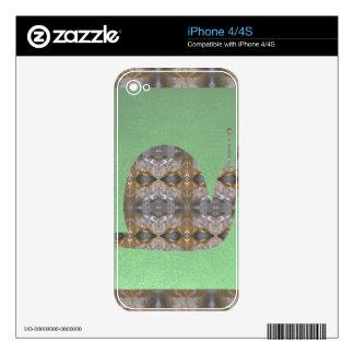 Insecto del CARACOL hecho de la piedra cristalina iPhone 4S Skins