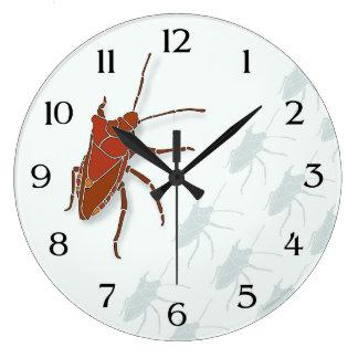Insecto del hedor reloj redondo grande
