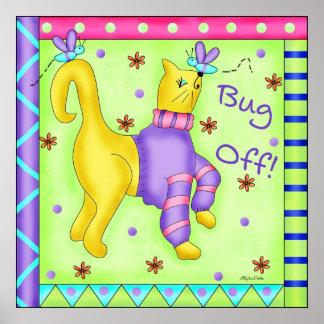 Insecto del poster del gato