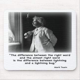 Insecto del relámpago de Twain Mousepad