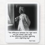 Insecto del relámpago de Twain Mousepad Tapete De Ratón