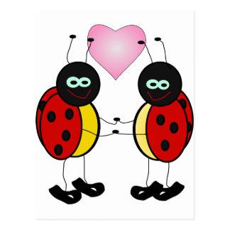 """insecto """"demostración del amor su amor uno """" tarjeta postal"""