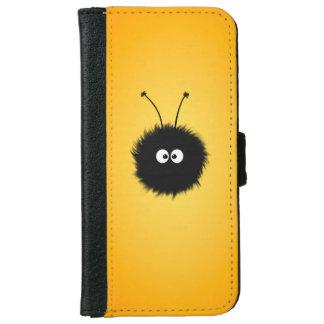 Insecto deslumbrado mullido lindo anaranjado funda cartera para iPhone 6