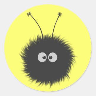 Insecto deslumbrado etiqueta redonda