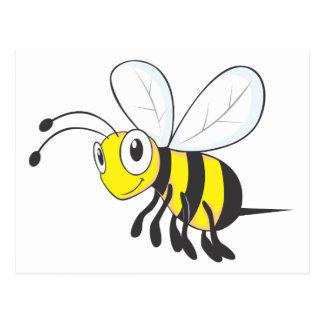 Insecto feliz de la abeja del vuelo postal