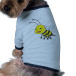 Insecto feliz de la abeja del vuelo camiseta de perrito