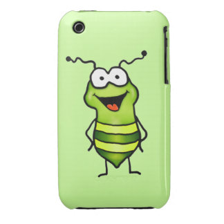 Insecto feliz iPhone 3 Case-Mate coberturas