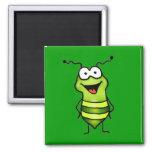 Insecto feliz iman de frigorífico