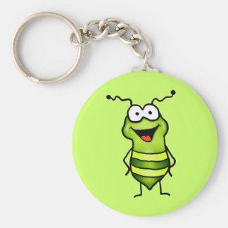Insecto feliz llavero redondo tipo pin