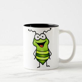 Insecto feliz taza dos tonos