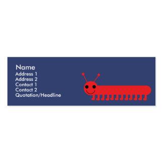 Insecto - flaco tarjetas de visita mini
