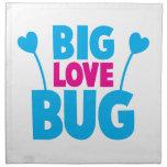 Insecto GRANDE del amor con las antenas del insect Servilletas Imprimidas