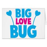 Insecto GRANDE del amor con las antenas del insect Tarjetas