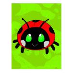 Insecto lindo de la señora postal