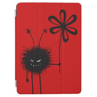 Insecto malvado gótico divertido rojo de la flor cover de iPad air