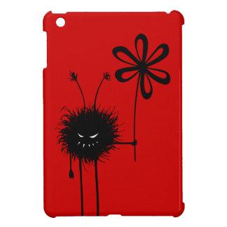 Insecto malvado rojo de la flor
