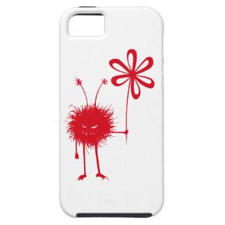 Insecto malvado rojo duro de la flor iPhone 5 fundas
