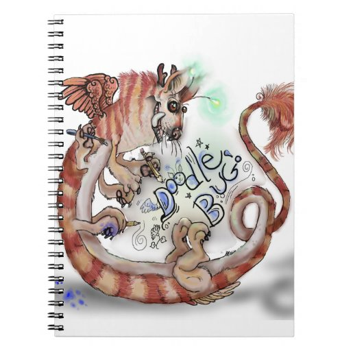 Insecto Monster~notebook del Doodle Spiral Notebook