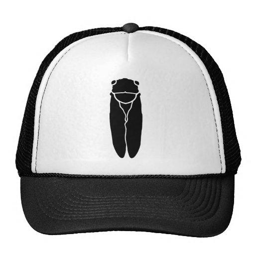 Insecto negro de la cigarra gorras de camionero