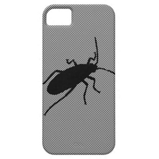 Insecto negro del zigzag iPhone 5 carcasa