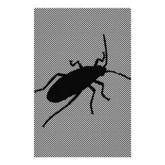 Insecto negro del zigzag papelería personalizada