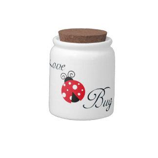 Insecto rojo del amor - mariquita platos para caramelos