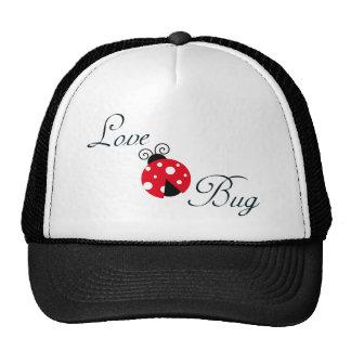 Insecto rojo del amor - mariquita gorras