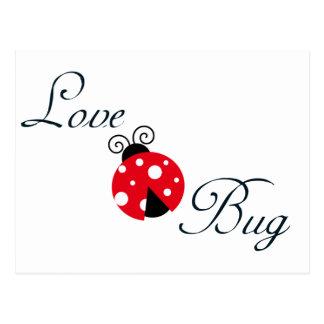 Insecto rojo del amor - mariquita tarjetas postales