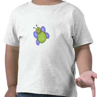 Insecto sonriente azul y verde camiseta
