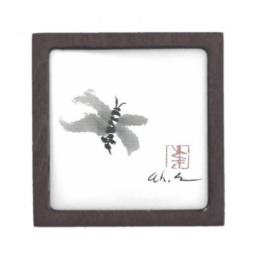 Insecto, Sumi-e de Andrea Erickson Caja De Joyas De Calidad