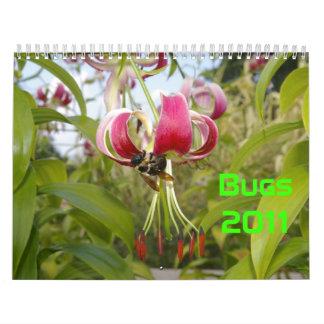 Insectos 2011 calendario de pared
