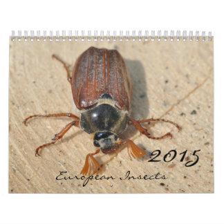 Insectos 2015 calendarios