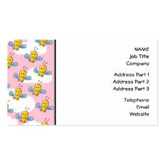 Insectos amarillos y modelo rosado del cielo tarjeta de visita