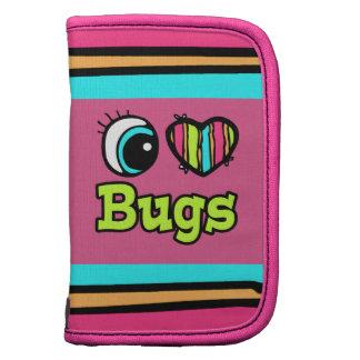 Insectos brillantes del amor del corazón I del ojo Organizadores