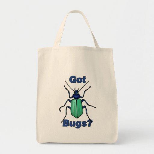 Insectos conseguidos bolsa tela para la compra