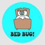 insectos de cama etiqueta redonda