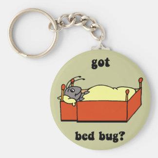 Insectos de cama llavero redondo tipo pin